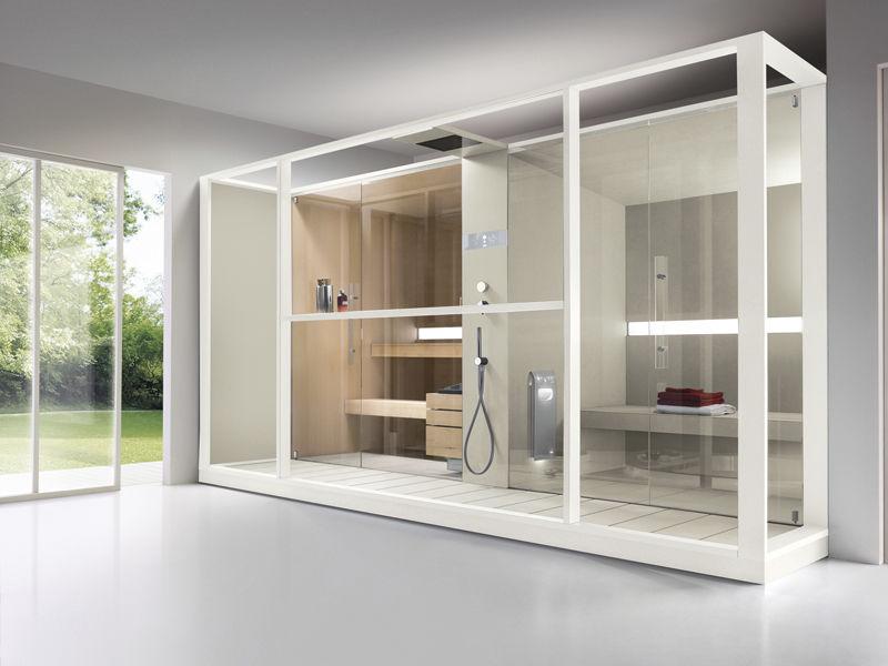 Cabina Sauna Vapor : Hammam cabina con generador de vapor logica twin effegibi