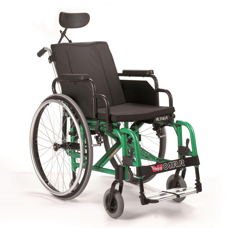 Silla de ruedas pasiva con reposacabezas plegable ALTHEA