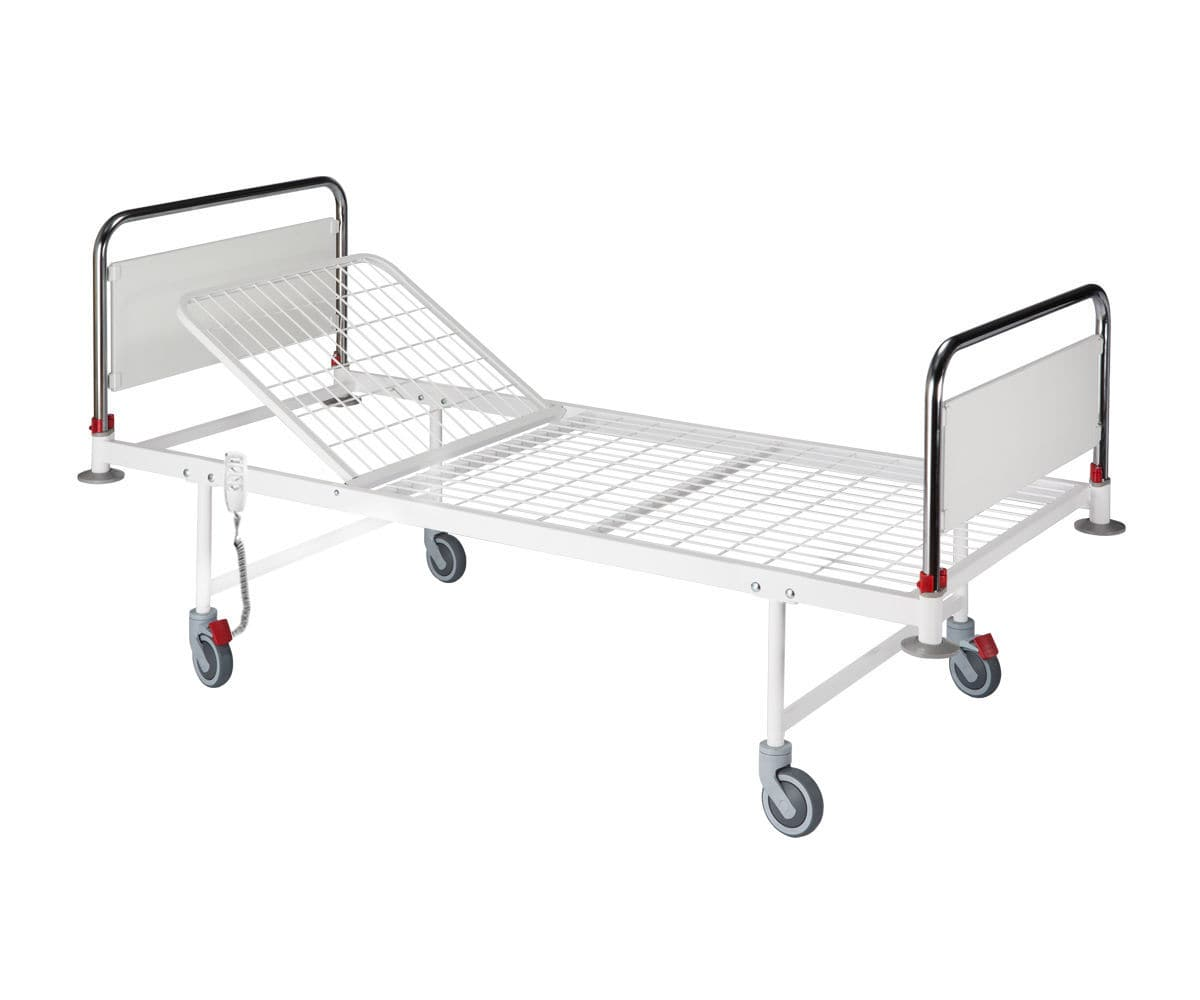Cama de hospital / eléctrica / de altura fija / con ruedas - 01.103 ...