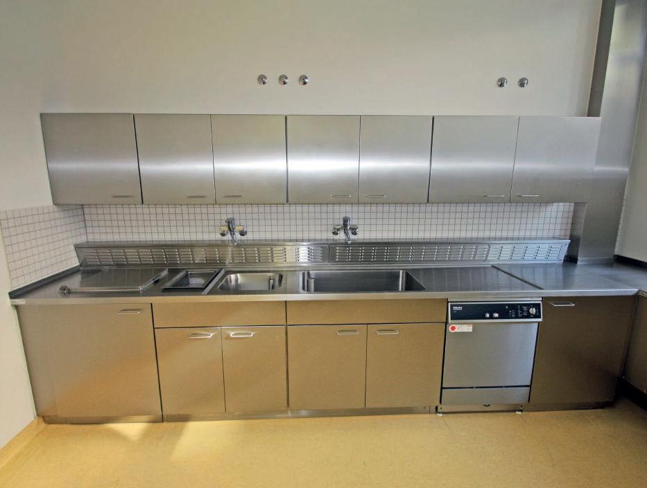 Mesa de laboratorio para histopatología / con fregadero / de acero ...