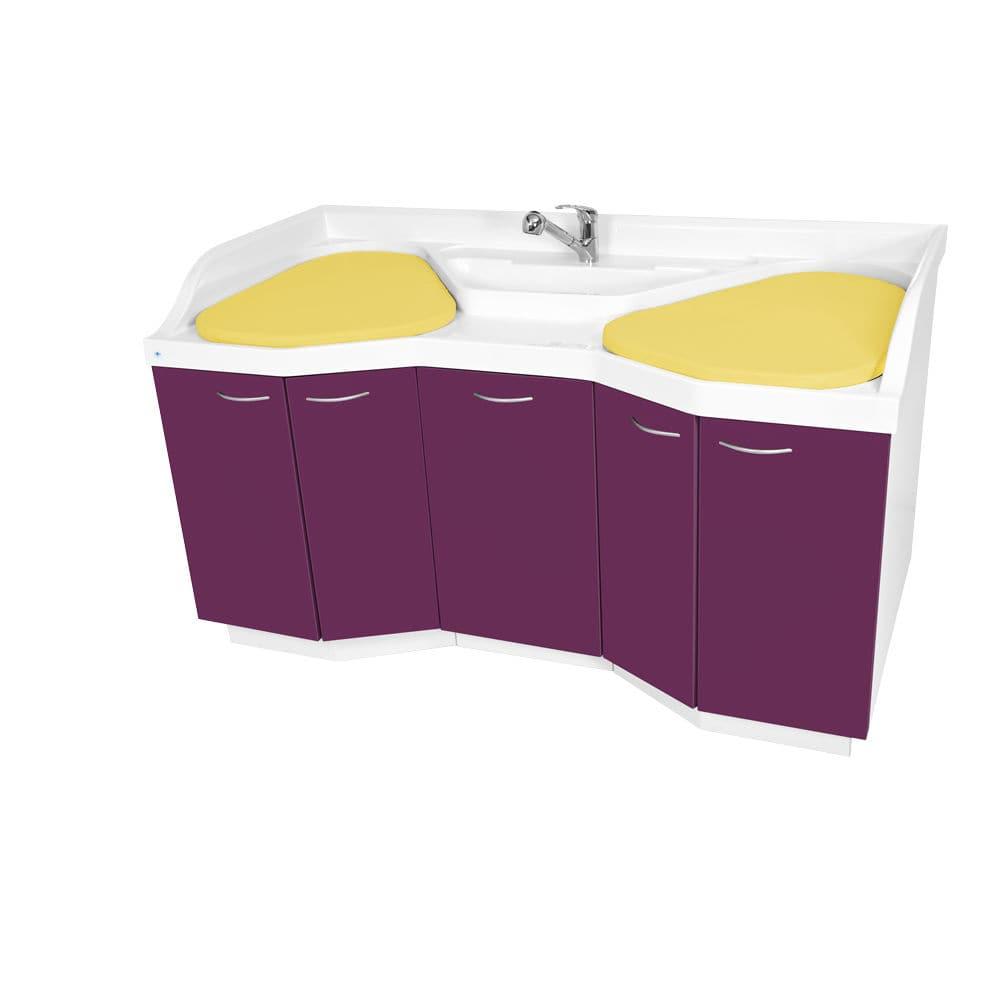 Mueble cambiador para guardería / con bañera / con lavabo - Loxos 3 ...