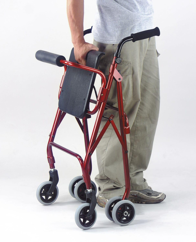 Andador con ruedas 4 ruedas / con asiento / con canastas / de altura ...