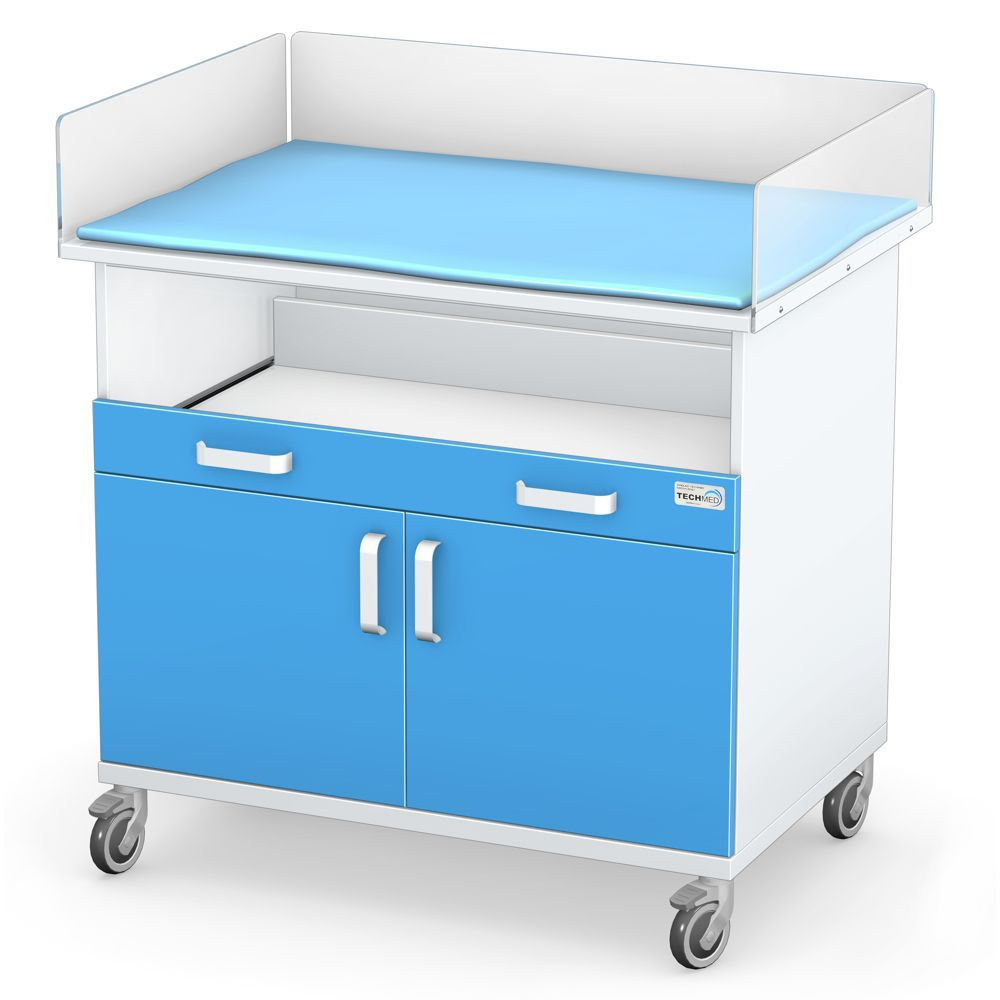 Mesa para cambiar pañales / rectangular / con ruedas - SAM series ...