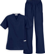 Uniforme médico médico / para mujer / de algodón / de poliéster