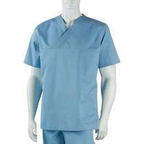 Blusón quirúrgico / unisex / de algodón / con 2 bolsillos