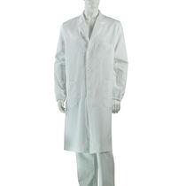 Bata médica / unisex / de algodón / con 3 bolsillos