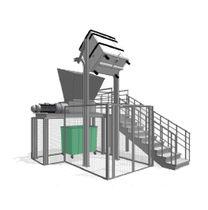 Sistema de tratamiento de desechos médico / con trituradora
