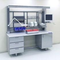 Estación de trabajo de laboratorio modular / de pie