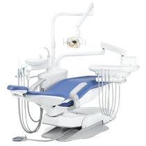 Unidad de tratamiento dental con sillón hidráulico / con portainstrumentos / con luz