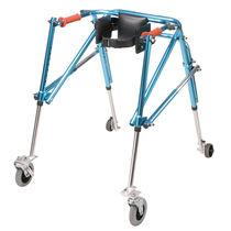 Andador con ruedas 4 ruedas / plegable / de altura variable / pediátrico