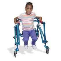 Andador con ruedas 4 ruedas / de altura variable / plegable / pediátrico