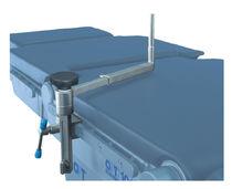 Soporte lateral / para mesa de operaciones / de acero inoxidable / de altura regulable