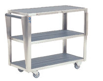 Carro de transporte / de almacenamiento / para accesorios de mesa de operaciones / 3 bandejas