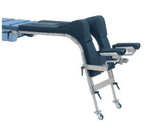Sistema de posicionamiento para mesa de operaciones / del paciente / radiotransparente