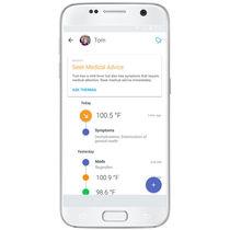 Aplicación para iOS de monitorización / médica / para smartphone