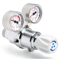 Regulador de presión de gas / de doble piso / de alta presión / de laboratorio