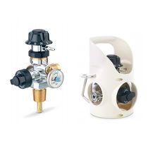 Regulador de presión para gases médicos / integrado / con selector de caudal