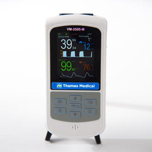 pulsioxímetro compacto / veterinario / con capnógrafo