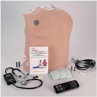 simulador de paciente de auscultación / torso / con generador de sonidos
