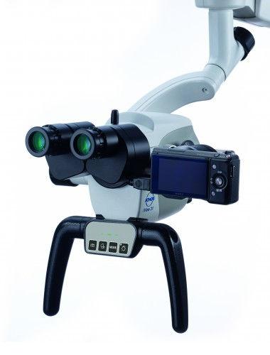 Microscopio quirúrgico / microscopio de cirugía ORL / con ruedas ATMOS® i View PRO ATMOS MedizinTechnik