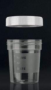 recipiente para muestras de orina / con tapón de rosca / de polipropileno
