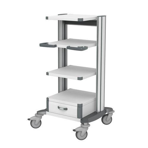 carro para aparato / de anestesia / para cámara de esterilización / de anclaje