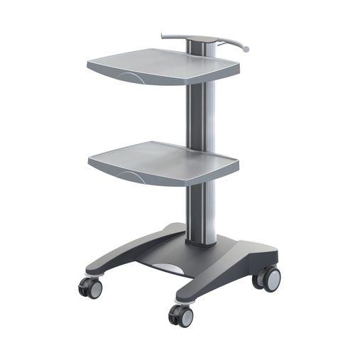 carro multifunción / para aparato / para material médico / 2 bandejas