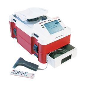 monitor estándar de recogida de sangre con lector de códigos de barras