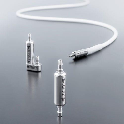 válvula de derivación para hidrocefalia presión ajustable / para adulto / pediátrica