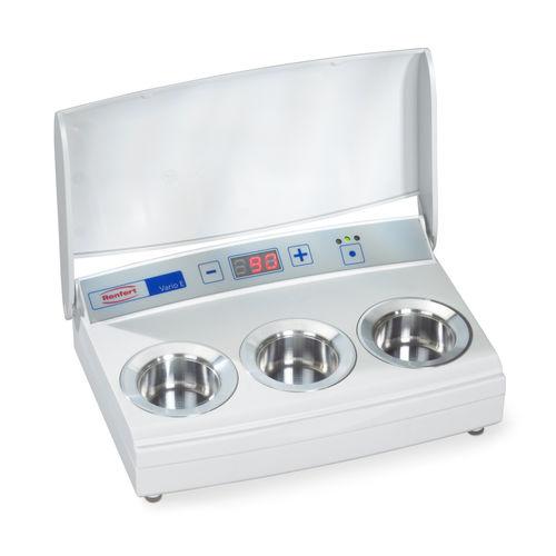 calentador de cera para laboratorio dental / instrumento de 3 reservorios