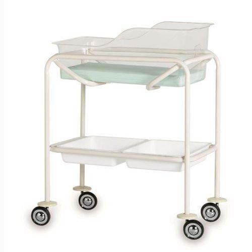 cuna hospitalaria con ruedas / transparente / de acero inoxidable