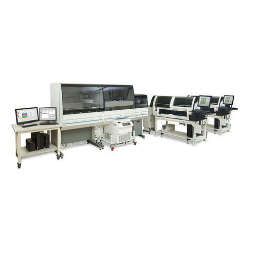 sistema de automatización de laboratorio pre-analítica / postanalítica / para analizadores de hematología