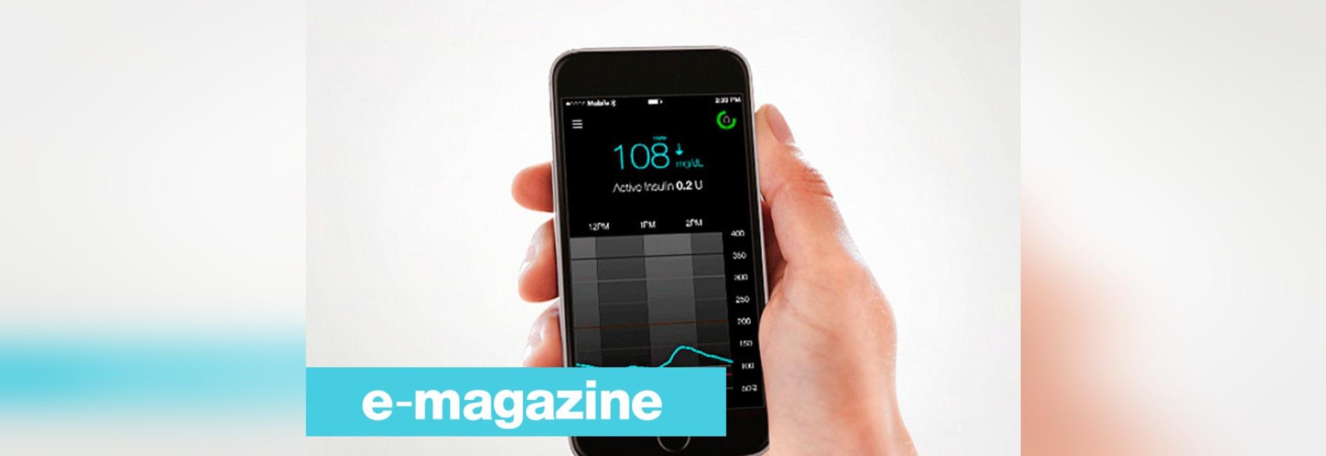 Datos pacientes de la diabetes directamente visibles en un smartphone