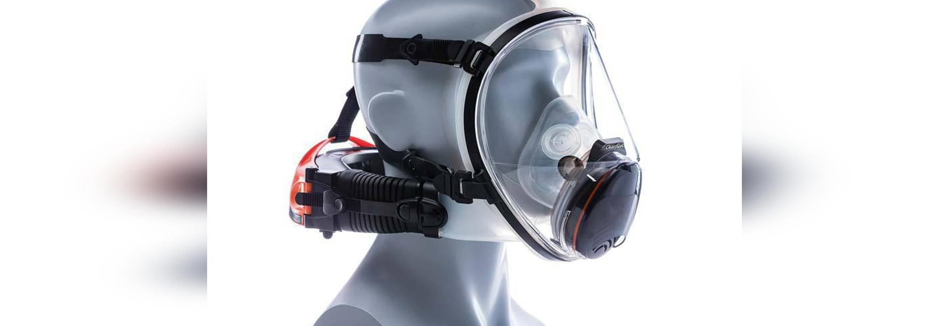 El respirador proporciona la protección de la cara llena