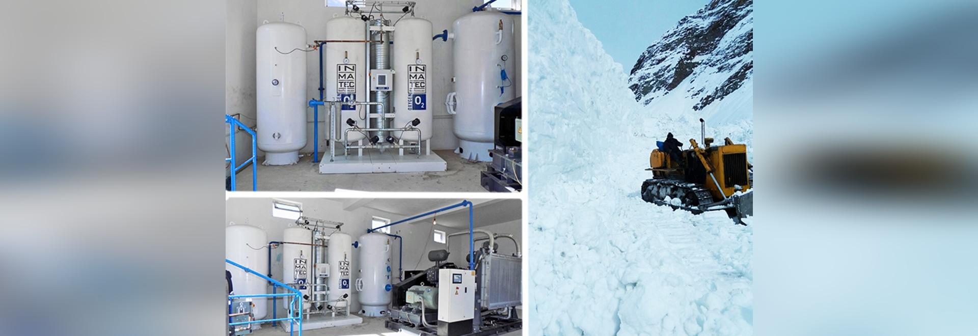 Los suministros de oxígeno en los hospitales o las clínicas situados en áreas inaccesibles son un desafío.