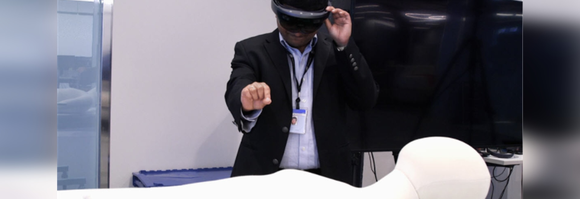 Tecnología aumentada de la realidad de GE para el entrenamiento del ultrasonido