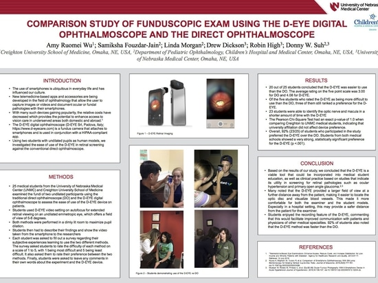 Estudio Comparativo de la Examinación Fundoscópica Usando el Oftalmoscopio Digital D-EYE y el Oftalmoscopio Directo