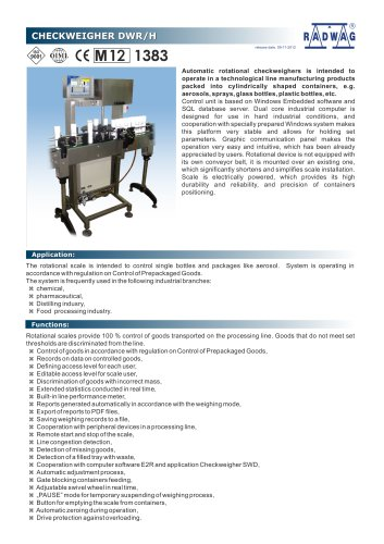 CHECKWEIGHER DWR/H
