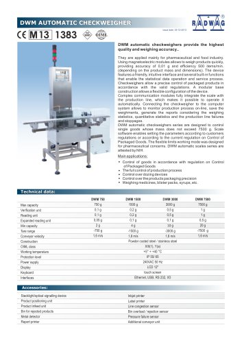 DWM AUTOMATIC CHECKWEIGHER