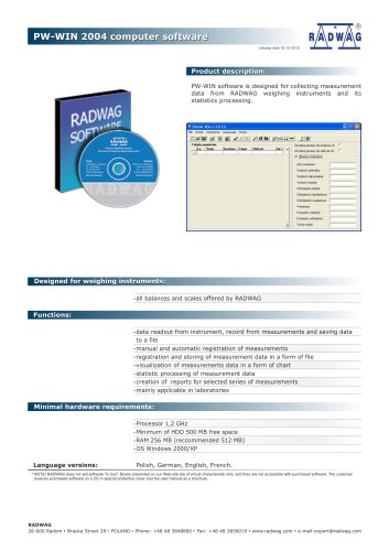 PW-WIN 2004 computer software