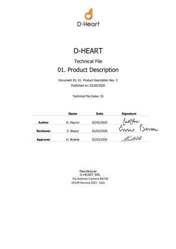 D-Heart Portable ECG Device Technical Description