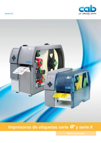 Impresoras de etiquetas serie a+ y serie X