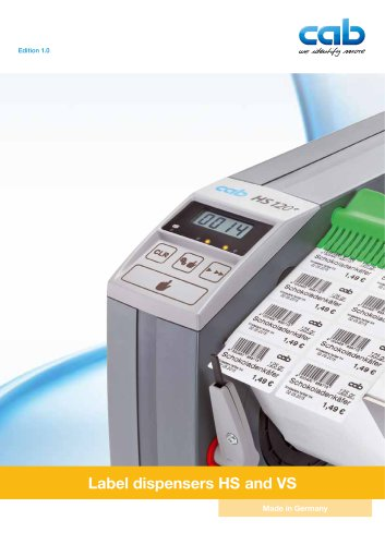 Label dispenser HS and VS