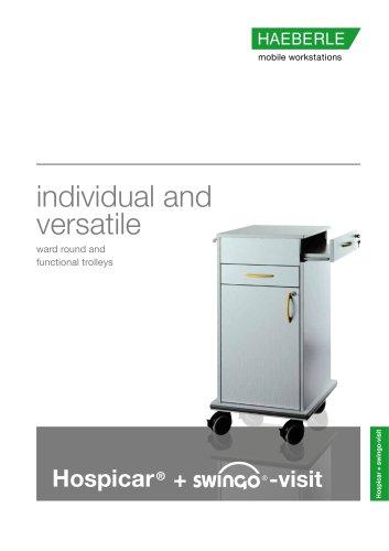 Hospicar+swingo-visit ward round and function trolleys