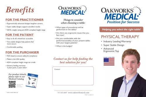 Oakworks PT Trifold Brochure