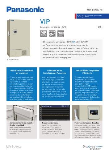 MDF-DU900V VIP Congelador vertical de –86 °C