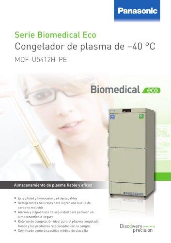 MDF U5412H Serie Biomedical Eco Congelador de plasma de –40 °C