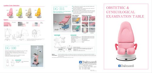 OBSTETRIC & GINECOLOGICAL EXAMINATION TABLE
