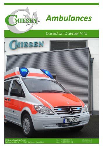 MB Vito Ambulance Brochure