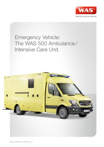 WAS 500 EMERGENCY AMBULANCE/INTENSIVE CARE